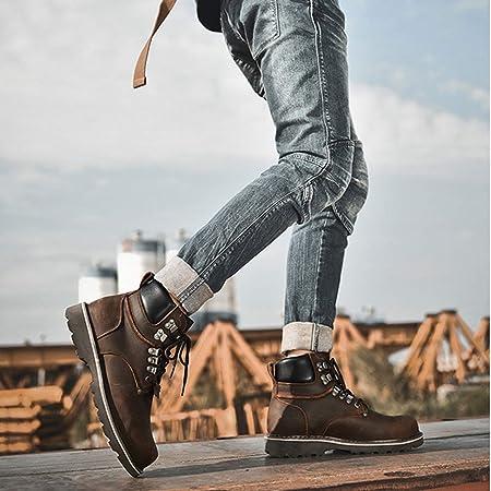 URNICE [URNICE] エンジニアブーツ メンズ 本革 ショートブーツ レザー ワークブーツ 幅広 牛革靴 アウトドアブーツ マウンテン バイク用 おしゃれ かっこいい ハイキングシューズ