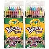 Crayola 18ct Twistables Colored Pencils (2 Pack) (Tamaño: 2)