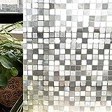 CottonColors(コットンカラーズ) 3D窓用フィルム 目隠しシート 断熱シート 紫外線カット 粘着剤なし 再利用可能 プライバシーガラスフィルム60x200cm[石道011]