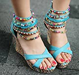 Getmorebeauty-Womens-Blue-Wedge-With-Pearls-Across-The-Top-Platform-High-Heels