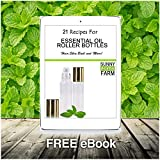 Essential Oils Roller Bottles with Recipe eBook Frosted White Glass Roll On Bottles for Perfume, Wax, Lip Balm, Essential Oils, Deodorant,10ml,6-Pack (Frosted White)