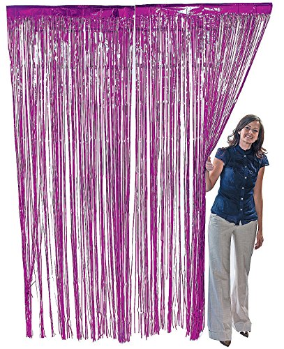 PURPLE METALLIC FRINGE CURTAIN