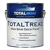 TotalBoat TotalTread Non Skid Deck Paint | Marine-Grade Anti Slip Traction Coating (Light Gray, Quart) (Color: Light Gray, Tamaño: Quart)
