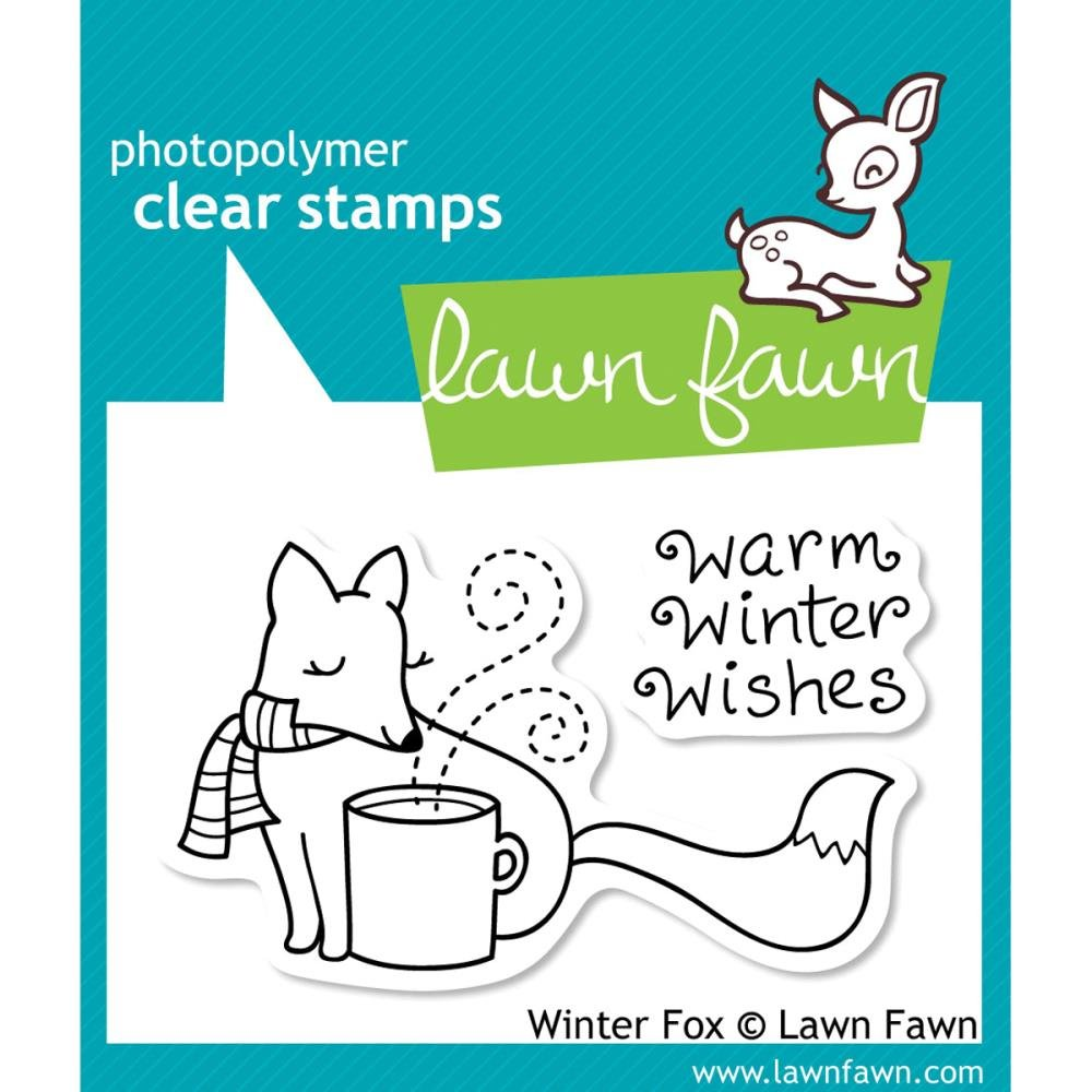 Winter Fox Clear Stamp Set (lawn Fawn) winter