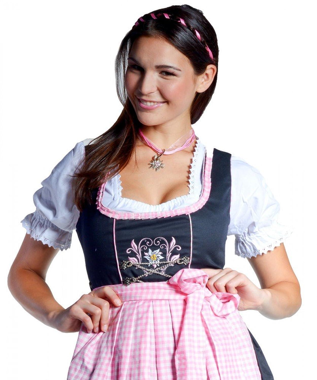 Midi-Dirndl Frida – schwarz/rosa Edelweiss – 32-46 günstig bestellen