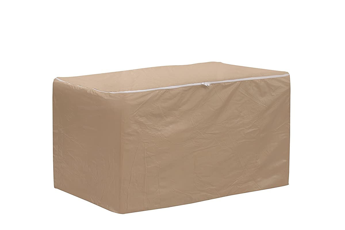 Protective Covers Weatherproof Large Storage Bag for Chair Cushions, Tan
