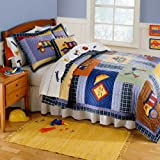 Construction Full/Queen Quilt and 2 Shams by Pem America