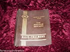 Allis Chalmers TS 260 Motor Scraper OEM Service Manual