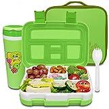 Frebw Compartment Bento Box (green, 800ml) (Color: Green, Tamaño: 800ml)