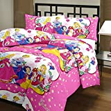 Renown Princess Cartoon Print Reversible Poly Cotton Single Bed AC Blanket / Dohar