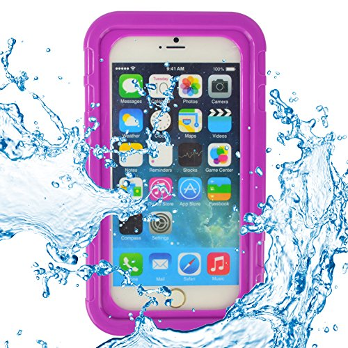ECCRIS discount duty free SumacLife Universal 5.5 Inch Waterproof Heavy Duty Case for Apple Iphone 6S Plus / Apple Iphone 6 Plus (purple)