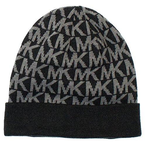 Michael Kors Knit Hat Gray Mk Logo