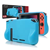 Orzly Comfort Grip Case for Nintendo Switch - Protective Back Cover for use on the Nintendo Switch Console in Handheld GamePad Mode with built in Comfort Padded Hand Grips - BLUE (Color: BLUE Grip Case for Nintendo Switch)