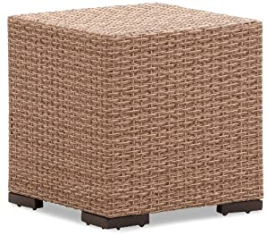 Strathwood Griffen All-Weather Garden Furniture - Wicker / Poly Rattan Side Table Natural Colour