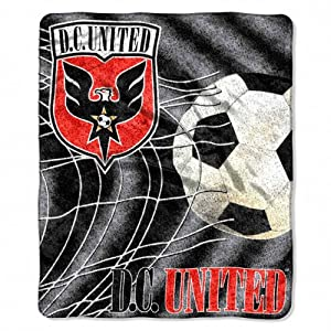 MLS DC United 50-Inch-by-60-Inch Sherpa on Sherpa Throw Blanket by Northwest