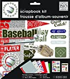me & my BIG ideas 8-Inch by 8-Inch Scrapbook Page Kit, Baseball