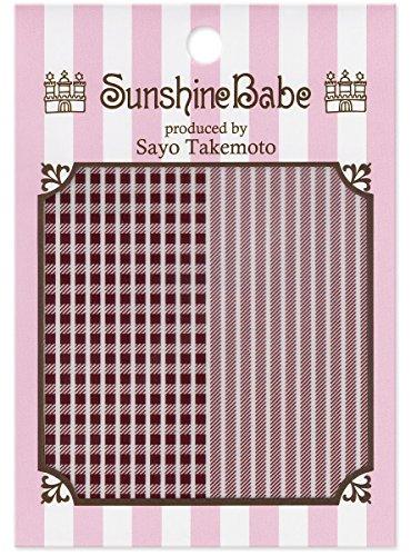 SunshineBabe ネイルシール シェパードチェック ワイン 2mm