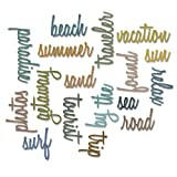 Sizzix 661288 Thinlits Die Set, Vacation Words, Script by Tim Holtz (18/Pack)