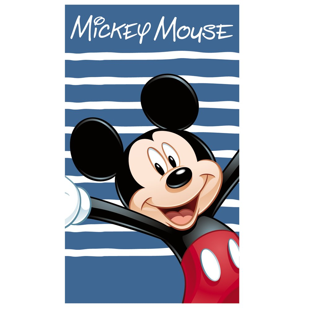 Cti 041398 Toalla de Playa Disney Mickey Happy, Terciopelo, 70 x 120 cm   Más información y revisión del cliente