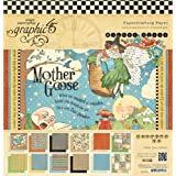 Graphic 45 Mother Goose Pad, 12 by 12-Inch