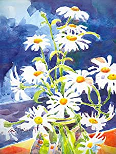 Amazon.com : Caroline's Treasures 6003CHF Flowers Daisy Canvas House