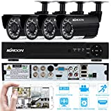 "KKmoon Kit Sistema de Seguridad (4 Canal 720P DVR H.264, 4 Cámara Bala de Vigilancia 1/4"" CMOS 1.0 MP 24 IR LED) Análogos"