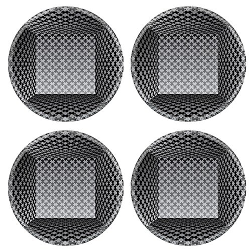 Liili Round Coasters 4 Pieces per order abstract vector interior with puzzle wallpapers Image ID 23291460