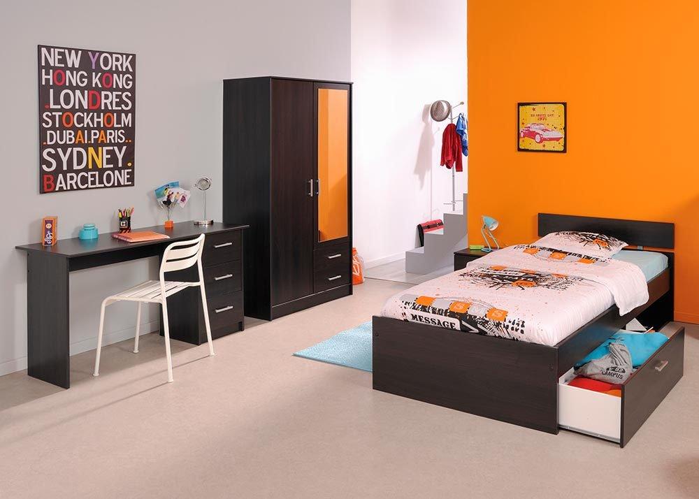 Jumbo-Möbel Kinderzimmer-Set INFINITY in Kaffee 4 tlg.