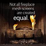 "Fireplace Mesh Screen Curtain. 22"" High (9-22). Includes two panels, each 24"" wide. This provides enough screen for a good looking natural ""drape"" effect on the average fireplace. Cool Grip Matte Black Screen Pulls included. Valance Rod Kit (NEW PRODUCT) is sold separately on Amazon.com for $69."