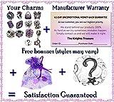 Timeline Trinketts Rhinestone Birthstone Charm Bracelet Beads Fits Pandora Jewelry Shades of Purple