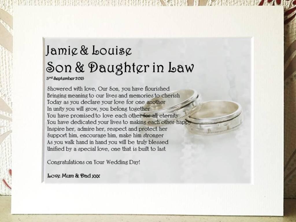 Wedding Card Poems Poem Gift Framed Card