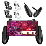 [4 Triggers+2 Grips] Fortnite PUBG Mobile Controller - Sumyee Mobile Game Controller, Cellphone Game Trigger, Battle Royale L1R1 Sensitive Shoot and Aim, Gift for Kids (Color: 4 Triggers+2 Grips(New Version))