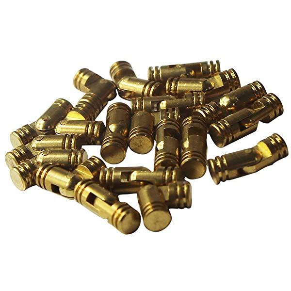 RZDEAL 20pcs Mini Brass Cylindrical Barrel Hinges Butt Hinges for Dollhouse Miniature Furniture Cabinet Closet Box (4mm x 20mm) (Tamaño: 4mm x 20mm)