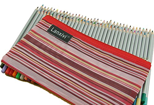 Lanxivi 72 Marco Colored Pencils With Pen Pouch Set