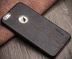*Crombie*Vorson LEXZA Series Double Stitch Leather Shell Back Cover Case For Apple iPhone 6 /6S - Black