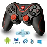 A-SZCXTOP S5 Wireless Bluetooth Game Controller Rechargeable Gamepad Support for Smart Phone,PC,TV,TV Box with Android Platform 3.2 or Above