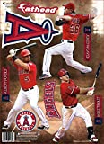 MLB Los Angeles Angels 2014 Three Player Fathead Teammate Wall Decal, 8 x 16-Inch, Red
