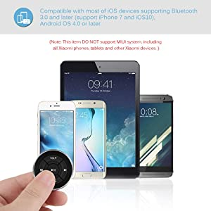 Music Audio Adapter Controller Switch for iOS Android Devices Bluetooth Audio Adapter DDSKY Car Bluetooth Media Button Audio Steering Wheel Remote Control
