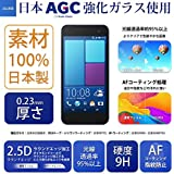 JGLASS 【100%日本製素材】 HTC J BUTTERFLY HTL23 強化ガラス液晶保護フィルム HTL23 液晶保護フィルム 一般フィルムの約3倍の硬度9H級 0.23mm 強化ガラス 保護フィルム
