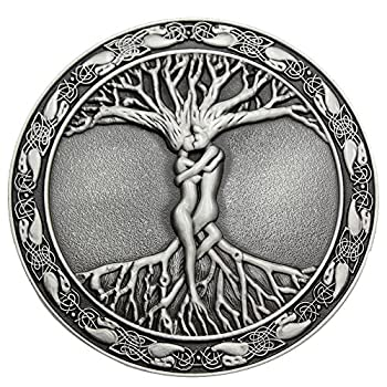 Q&Q Fashion Men Vintage Silver Celtic Tree Of Life Love Nordic Mythology Pagan Wicca Belt Buckle