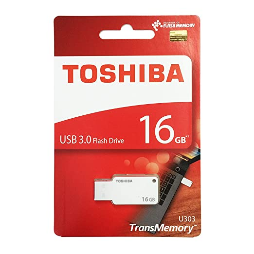 Toshiba 16GB TransMemory U303 USB 3.0 Flash Drive White at amazon
