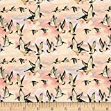 Beach Treasures Oyster Catchers Sunset Fabric By The Yard