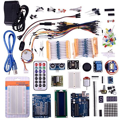 For Arduino Kuman UNO R3 the Basic Starter Kit with Tutorial Official Robot with R3 Board Mini Breadboard Power Supply LCD Screen Relay Servo Prototype Remote Controller Jump Wires K31 (Wifi Remote Starter compare prices)