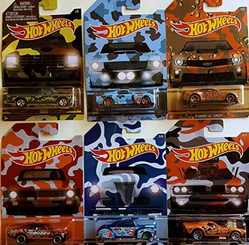 New 2015 Hot Wheels Exclusive Camouflage/Camo series cars - COMPLETE SET (Hot Wheels New For 2015 compare prices)