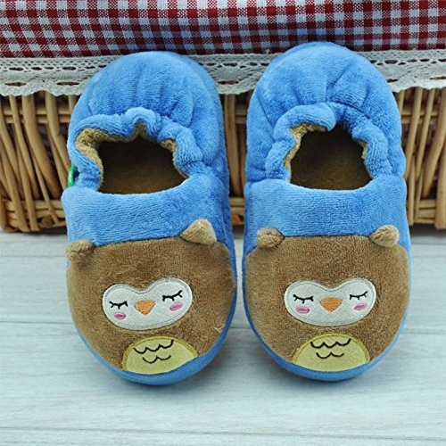 HSE Children cute baby owl cotton slippers cotton slippers winter,Sky Blue blue sky чаша северный олень