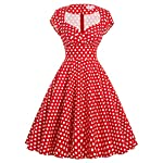 Belle Poque Women's 50's Cap Shoulder Knee-Length Vintage Church Dresses Size S-XL