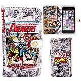 iPhone6s iPhone6 ケース 手帳型 カバー MARVEL マーベル Comics ダイアリー / アベンジャーズ