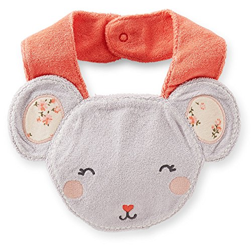 "Carter's Baby Girls' ""Tomboy Collection"" Floral Mouse Terry Teething Bib - 1"