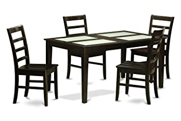 East West Furniture CAPF5G-CAP-W 5-Piece Dining Table Set