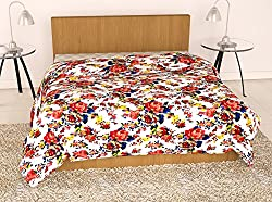 Story@Home Feather Floral Microfibre Single Quilt - Blue